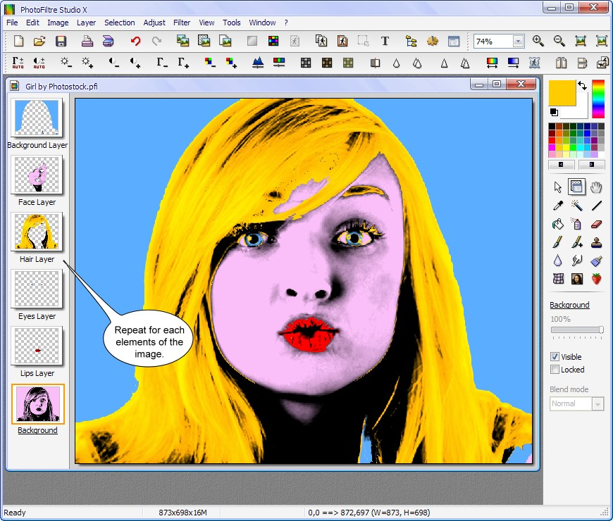 how to change eye color in photofiltre